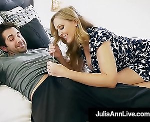 Step Mom Julia Ann Mouth Fucks Step Son's Cock!