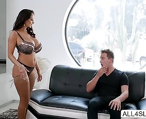 Huge tits MILF Ava Addams rides dicks and wants jism in her face