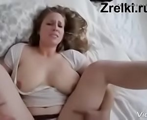 Big tits mature mommy and young skinny boy