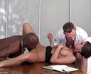 get fucked from 2 big cocks - little caprice