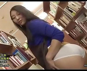Japanese Librarian Get Fucked By Visitor