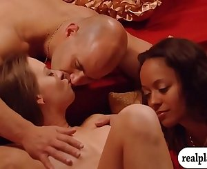 Horny swingers liked massive groupsex in the red room
