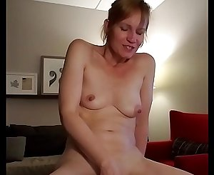 naughty mommy plays with her wet pussy