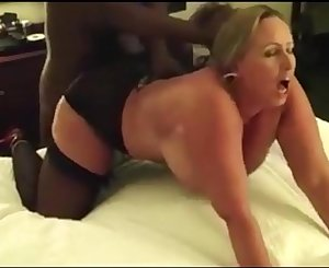 Chesty mom destroyed by Big black cock