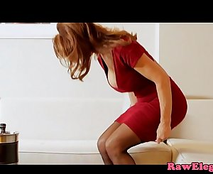 Cockriding glamcore milf loves asian chick
